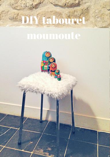 DIY tabouret moumoute